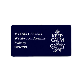 Keep Calm and Call An Agent Label