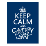Keep Calm and Call An Agent Postcard