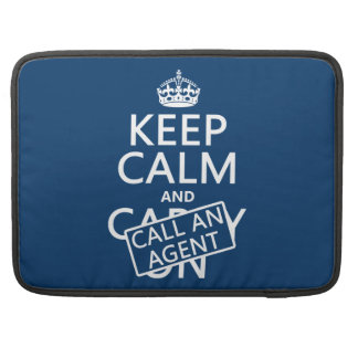 Keep Calm and Call An Agent Sleeve For MacBook Pro