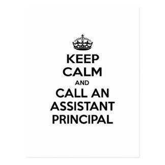 Keep Calm and Call an Assistant Principal Postcard