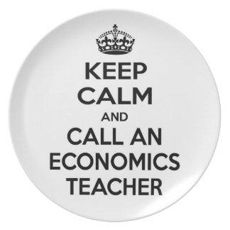 Keep Calm and Call an Economics Teacher Dinner Plate