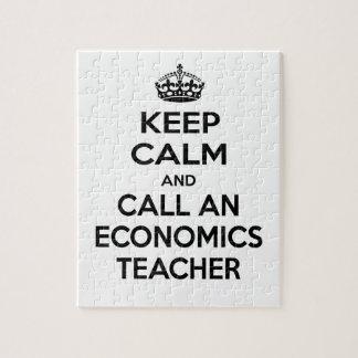 Keep Calm and Call an Economics Teacher Puzzle