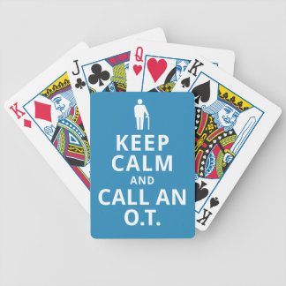 Keep Calm and Call an O.T.-Occupational Therapist Bicycle Playing Cards