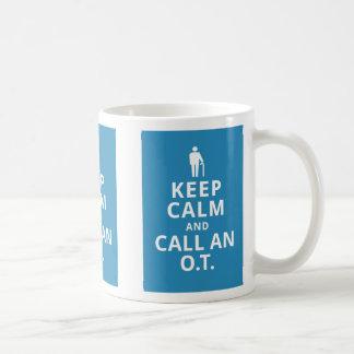 Keep Calm and Call an O.T.-Occupational Therapist Coffee Mug