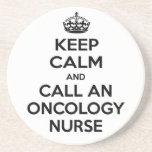 Keep Calm and Call an Oncology Nurse Coaster