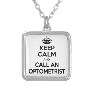 Keep Calm and Call an Optometrist Pendant