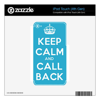 Keep Calm and Call Back Decal For iPod Touch 4G