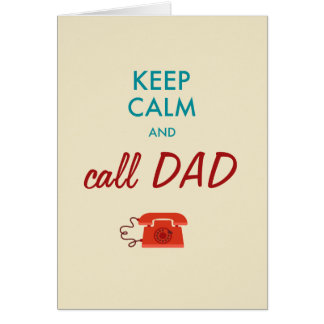 Keep calm and call DAD Card
