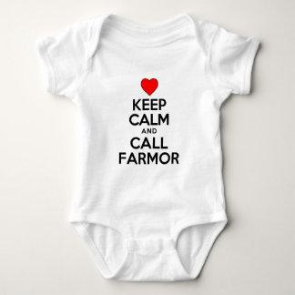 Keep Calm and Call Farmor Baby Bodysuit