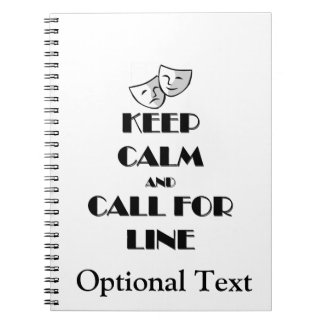 Keep Calm and Call for Line Spiral Notebook