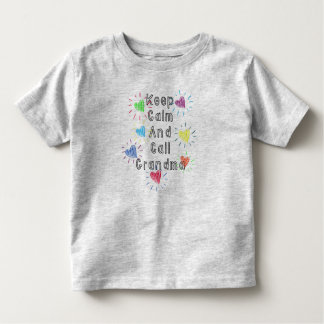Keep Calm and Call Grandma Toddler Tee Grey