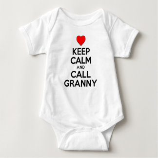 Keep Calm And Call Granny Baby Bodysuit