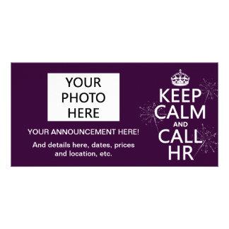 Keep Calm and Call HR (any color) Card