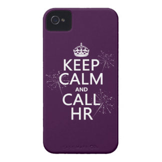 Keep Calm and Call HR any color iPhone 4 Covers