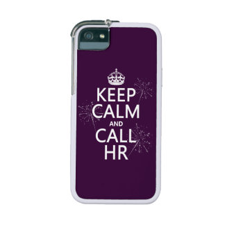 Keep Calm and Call HR (any color) iPhone 5/5S Cover