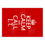 Keep Calm and Call IT (any color) Large Business Cards (Pack Of 100)