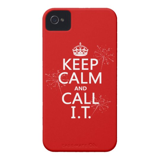 Keep Calm and Call IT (any color) iPhone 4 Case