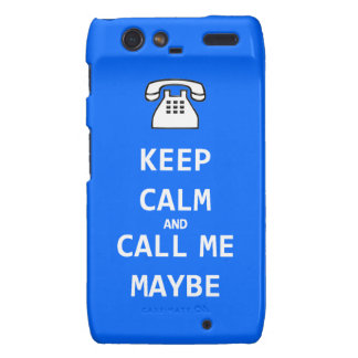 Keep calm and call me maybe Case-Mate Motorola Motorola Droid RAZR Cover