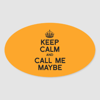 KEEP CALM AND CALL ME MAYBE - Halloween - png Stickers