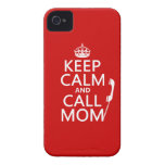 Keep Calm and Call Mom - all colours iPhone 4 Covers