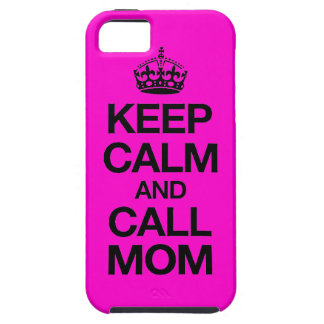 Keep Calm And Call Mom iPhone 5 Case (hot pink)