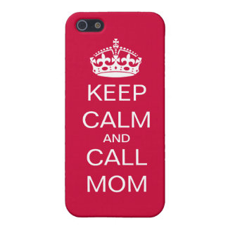 Keep Calm and Call Mom iPhone SE/5/5s Case