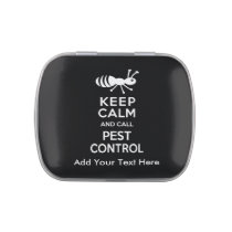 Keep Calm and Call Pest Control Exterminator Jelly Belly Tins