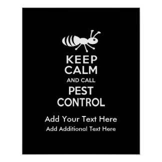 Keep Calm and Call Pest Control Exterminator Print