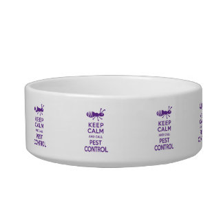 Keep Calm and Call Pest Control Funny Exterminator Bowl