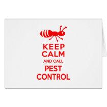 Keep Calm and Call Pest Control Funny Exterminator Card