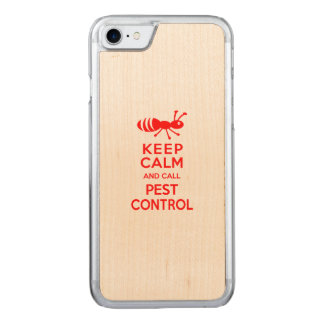 Keep Calm and Call Pest Control Funny Exterminator Carved iPhone 7 Case