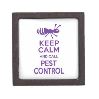 Keep Calm and Call Pest Control Funny Exterminator Gift Box