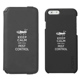 Keep Calm and Call Pest Control Funny Exterminator iPhone 6/6s Wallet Case