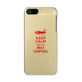 Keep Calm and Call Pest Control Funny Exterminator Metallic Phone Case For iPhone SE/5/5s
