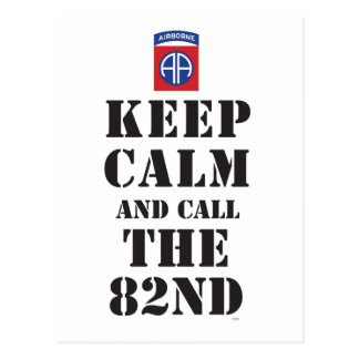 KEEP CALM AND CALL THE 82ND POSTCARD