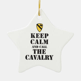KEEP CALM AND CALL THE CAVALRY CERAMIC ORNAMENT