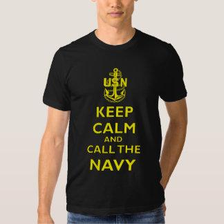 Keep Calm and Call The Navy Tee Shirts