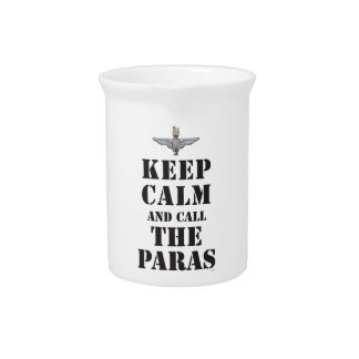KEEP CALM AND CALL THE PARAS BEVERAGE PITCHER