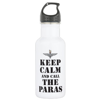 KEEP CALM AND CALL THE PARAS WATER BOTTLE