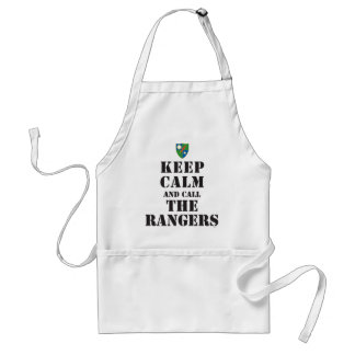 KEEP CALM AND CALL THE RANGERS ADULT APRON