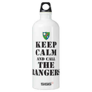 KEEP CALM AND CALL THE RANGERS ALUMINUM WATER BOTTLE