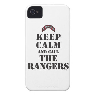 KEEP CALM AND CALL THE RANGERS iPhone 4 COVER
