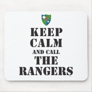 KEEP CALM AND CALL THE RANGERS MOUSE PAD
