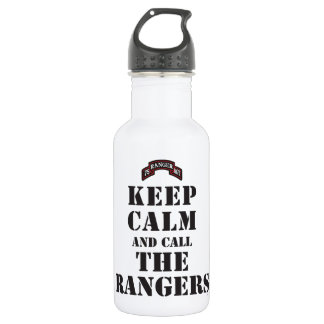 KEEP CALM AND CALL THE RANGERS WATER BOTTLE