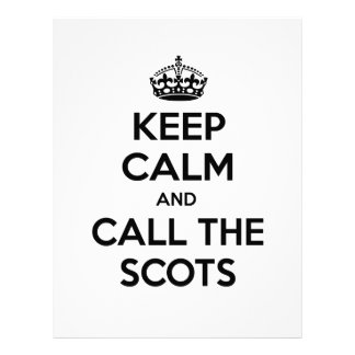 Keep Calm and Call The Scots Customized Letterhead