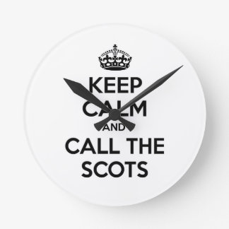 Keep Calm and Call The Scots Wall Clocks