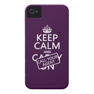 Keep Calm and Call Your Agent (any color) Case-Mate iPhone 4 Cases