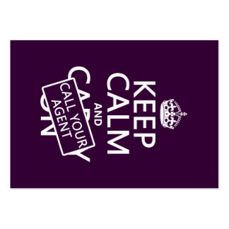 Keep Calm and Call Your Agent (any color) Large Business Card