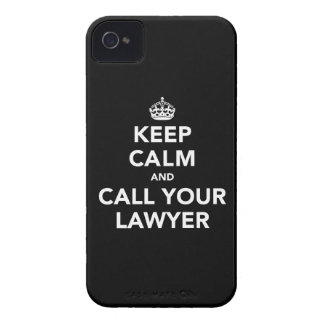 Keep Calm and Call Your Lawyer iPhone 4 Cover