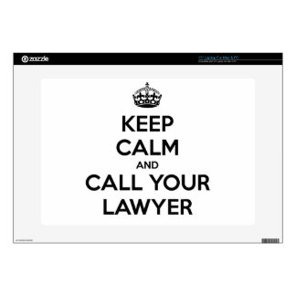 Keep Calm And Call Your Lawyer Laptop Skins